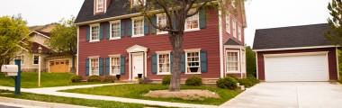 Barn-Style House - Dual Chimneys - Full Backyard